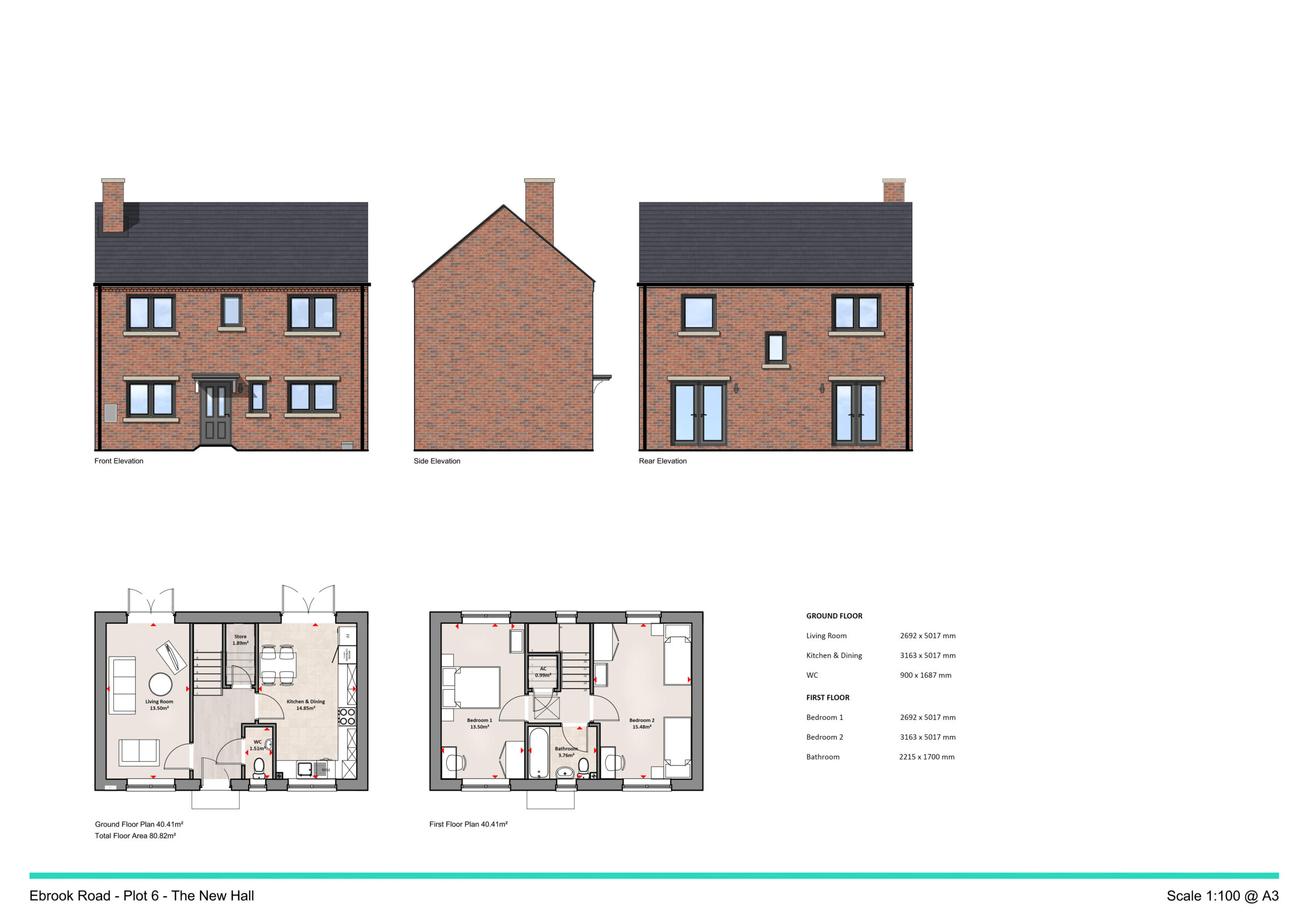 The New Hall is a 2 bed semi-detached property